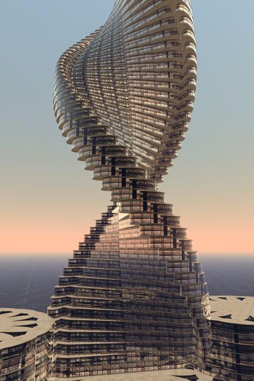 未来建筑设计素材