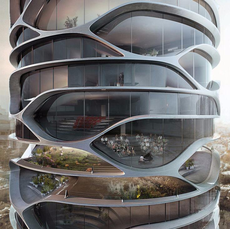 小清新未来建筑