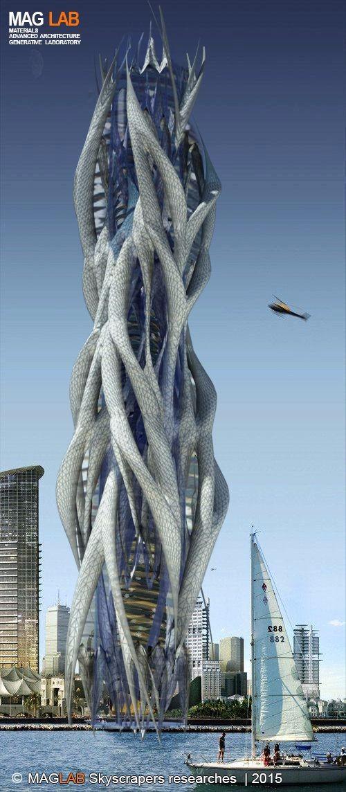 创意未来建筑设计图设计