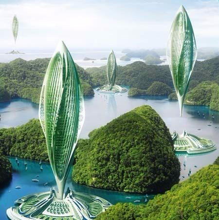 创意未来建筑灵感图 设计