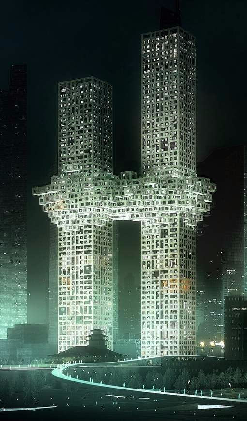 特色未来建筑图纸设计