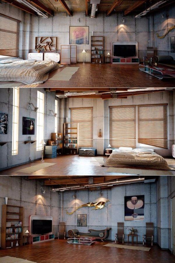 loft效果图 设计